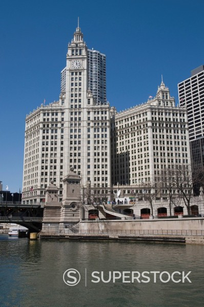 Stock Photo: 1890-32108 The Wrigley Building, Chicago, Illinois, United States of America, North America