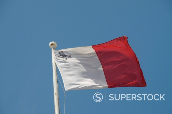 Stock Photo: 1890-32144 Flag, Valletta, Malta, Europe