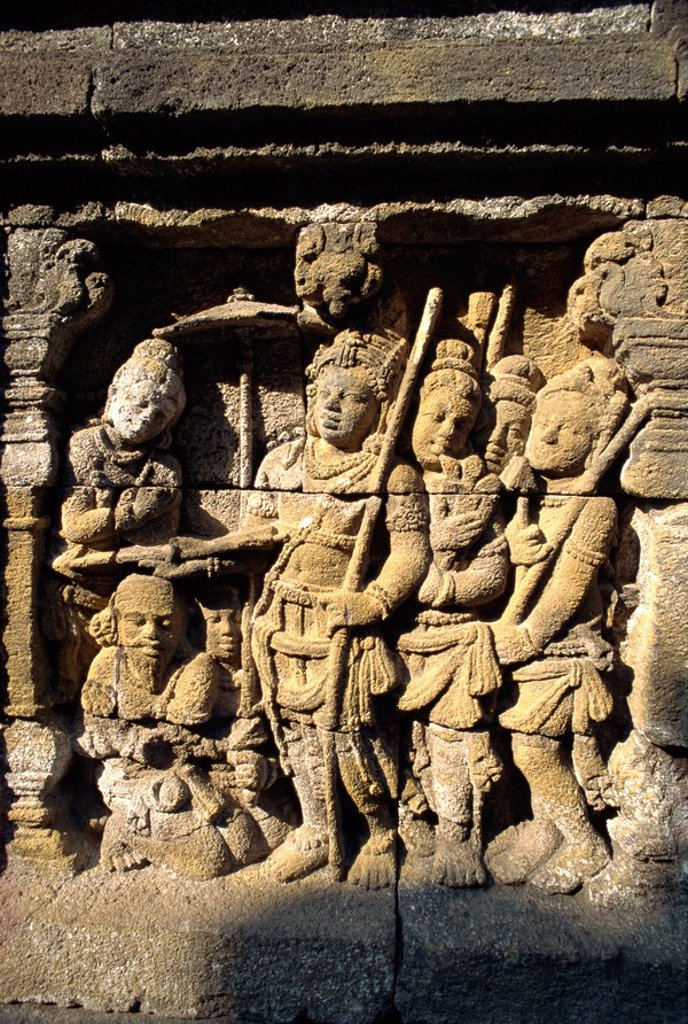 Stock Photo: 1890-32416 Detail, Buddhist temple, Borobudur, UNESCO World Heritage Site, Java, Indonesia, Southeast Asia, Asia