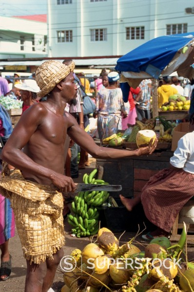 Stock Photo: 1890-3242 Saturday market, St. George´s, Grenada, Windward Islands, West Indies, Caribbean, Central America