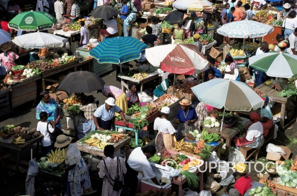 St. George´s Saturday market, Grenada, Windward Islands, West Indies, Caribbean, Central America : Stock Photo