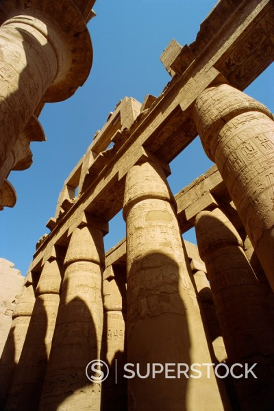Temple of Karnak, Thebes, UNESCO World Heritage Site, Egypt, North Africa, Africa : Stock Photo