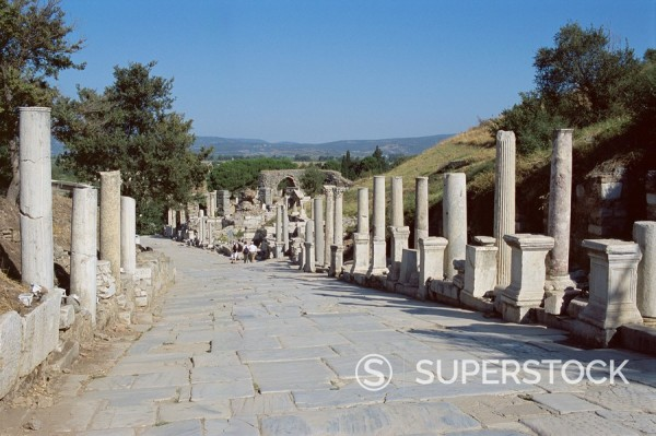 Stock Photo: 1890-33073 Archaeological site, Ephesus, Anatolia, Turkey, Asia Minor