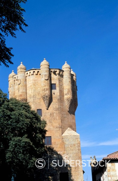 Convento de las Ursulas, founded in 1512, Gothic style, Salamanca, Castile, Spain, Europe : Stock Photo