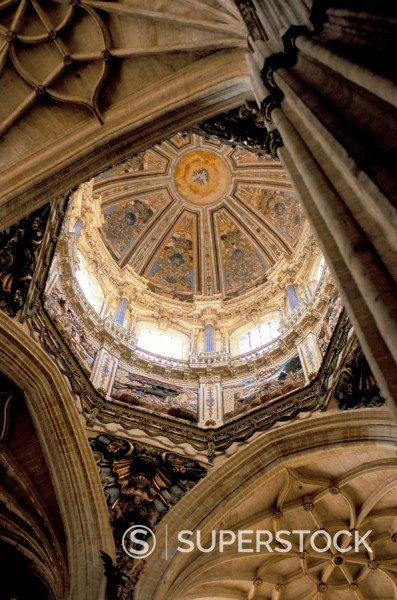 Stock Photo: 1890-33142 Interior of the Catedral Nueva New Cathedral, dating from the 16th century, Salamanca, Spain, Europe