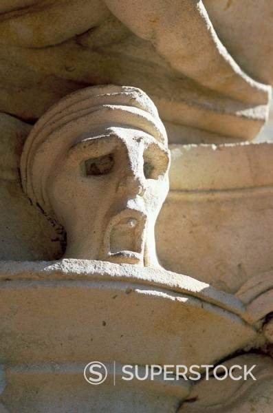 Stock Photo: 1890-33146 Detail, Convento de las Duenas, Salamanca, Spain, Europe