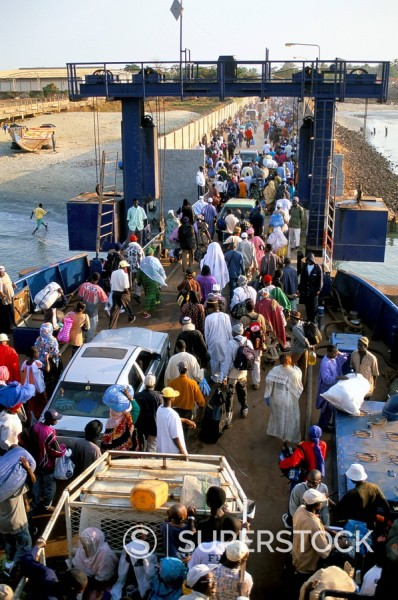 Banjul to Bari ferry, Banjul, The Gambia, West Africa, Africa : Stock Photo