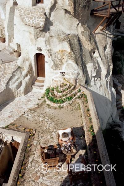 Stock Photo: 1890-33248 Cappadocia Cave Hotel, Goreme, Cappadocia, Anatolia, Turkey, Asia Minor, Asia