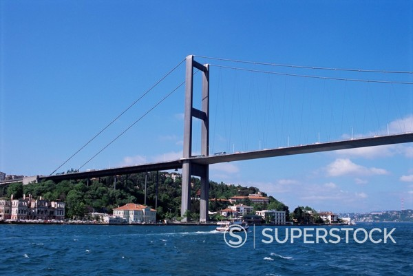 Stock Photo: 1890-33261 The Bosphorus Bridge, Istanbul, Turkey, Europe