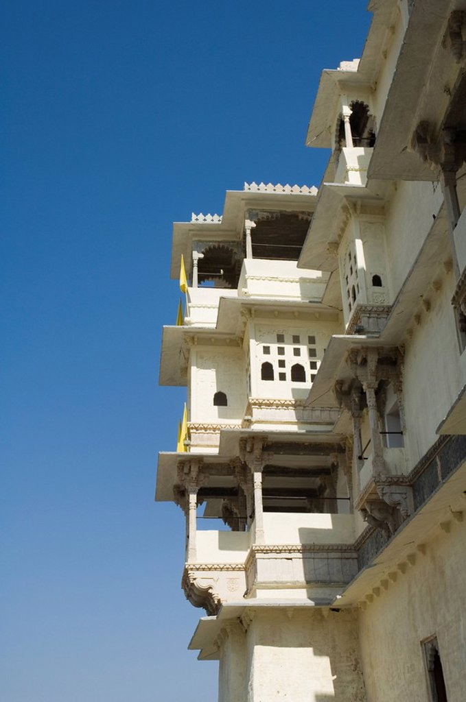 Old fort of Devi Gath Devi Garh now a heritage hotel, near Udaipur, Rajasthan state, India, Asia : Stock Photo