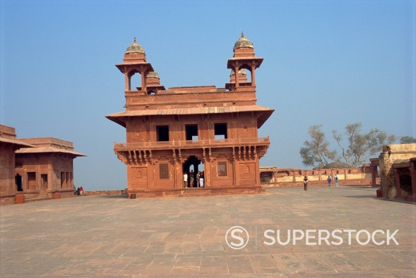 Fatehpur Sikri, UNESCO World Heritage Site, built by Akbar in 1570 as his administrative capital, later abandoned, Uttar Pradesh state, India, Asia : Stock Photo