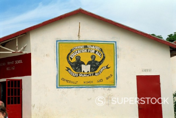 Village school near Banjul, Gambia, West Africa, Africa : Stock Photo