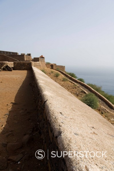 The Fortress of Sao Filipe, Santiago, Cape Verde Islands, Africa : Stock Photo