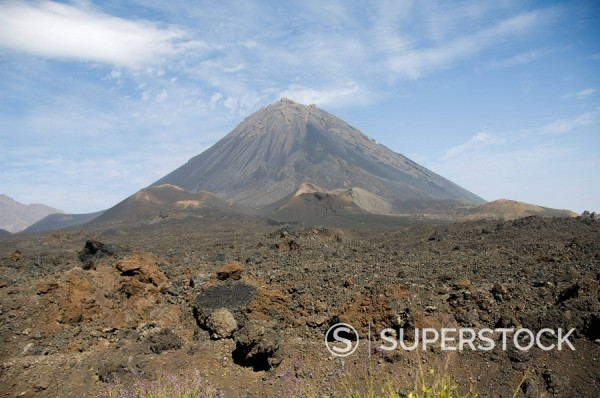 Stock Photo: 1890-35218 The volcano of Pico de Fogo in the background, Fogo Fire, Cape Verde Islands, Africa
