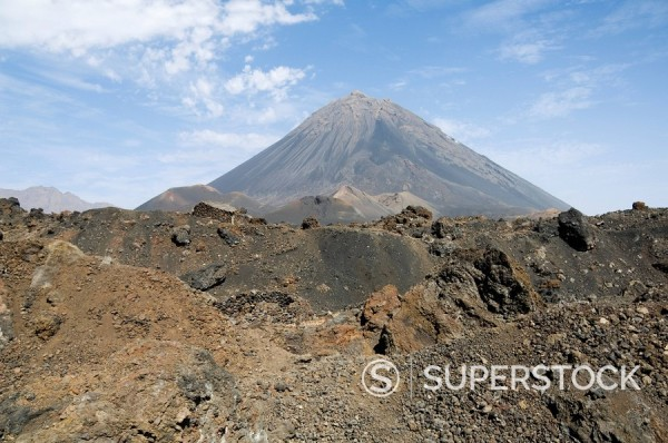 Stock Photo: 1890-35222 The volcano of Pico de Fogo in the background, Fogo Fire, Cape Verde Islands, Africa