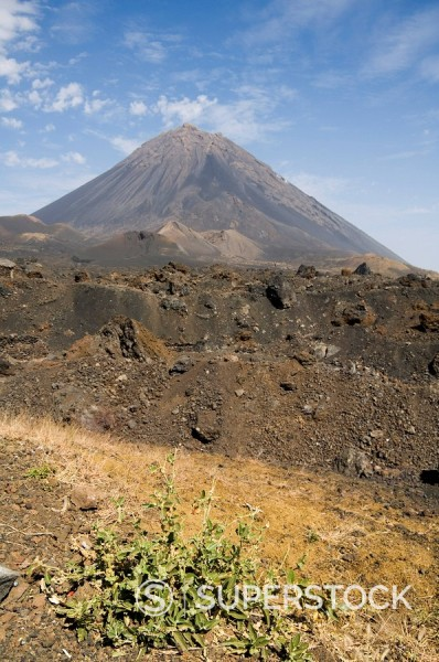 Stock Photo: 1890-35225 The volcano of Pico de Fogo in the background, Fogo Fire, Cape Verde Islands, Africa