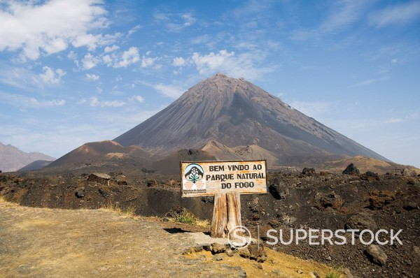Stock Photo: 1890-35226 The volcano of Pico de Fogo in the background, Fogo Fire, Cape Verde Islands, Africa