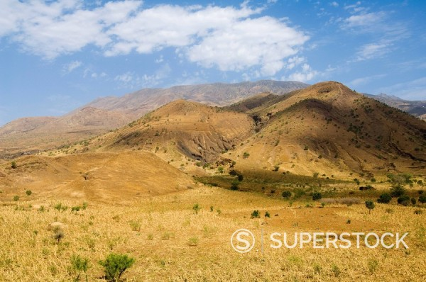 Countryside on way to the volcano, Fogo Fire, Cape Verde Islands, Africa : Stock Photo