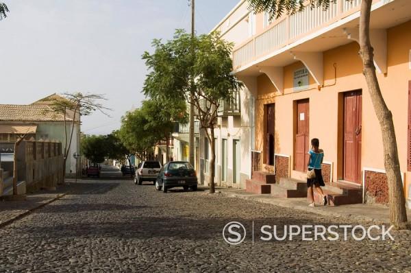 Sao Filipe, Fogo Fire, Cape Verde Islands, Africa : Stock Photo