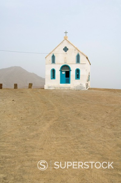 Church near Salinas, Sal, Cape Verde Islands, Africa : Stock Photo