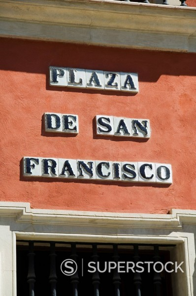Stock Photo: 1890-35530 Main shopping district, Plaza de San Francisco, near Sierpes Street, Seville, Andalusia, Spain