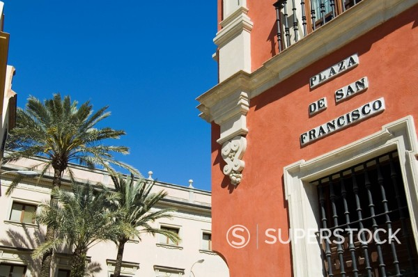 Stock Photo: 1890-35531 Main shopping district, Plaza de San Francisco, near Sierpes Street, Seville, Andalusia, Spain