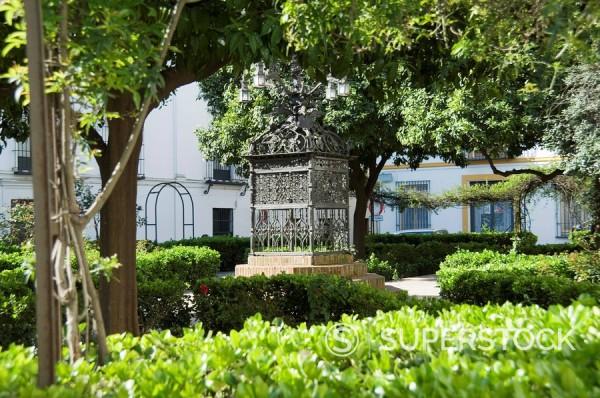 Stock Photo: 1890-35647 Plaza Santa Cruz, Santa Cruz district, Seville, Andalusia, Spain, Europe