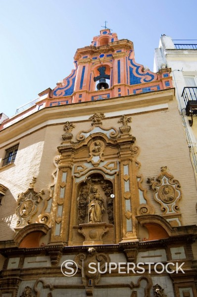 Stock Photo: 1890-35738 Church near Sierpes Street, Seville, Andalusia, Spain, Europe