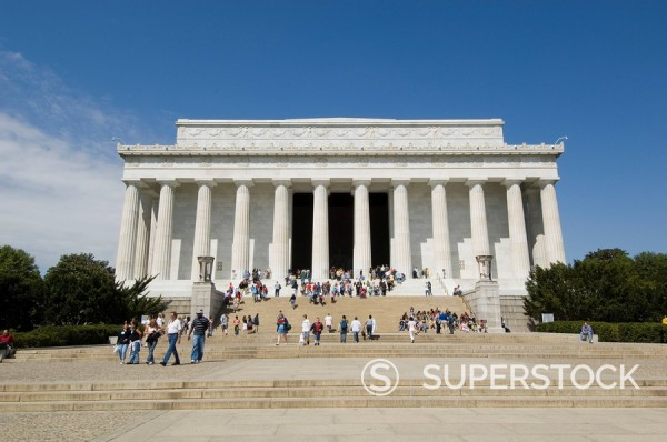 Stock Photo: 1890-36106 Lincoln Memorial, Washington D.C. District of Columbia, United States of America, North America