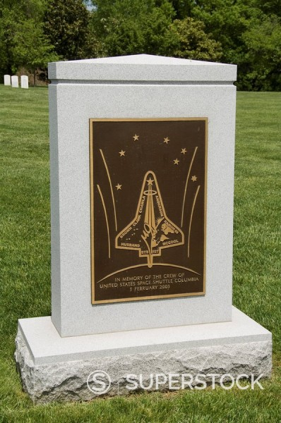 Stock Photo: 1890-36152 Memorial to the crew of the Space Shuttle Columbia, Arlington National Cemetery, Arlington, Virginia, United States of America, North America