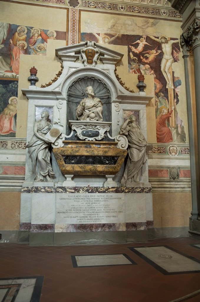 Stock Photo: 1890-36223 Tomb of Galileo, Santa Croce church, Florence Firenze, UNESCO World Heritage Site, Tuscany, Italy, Europe