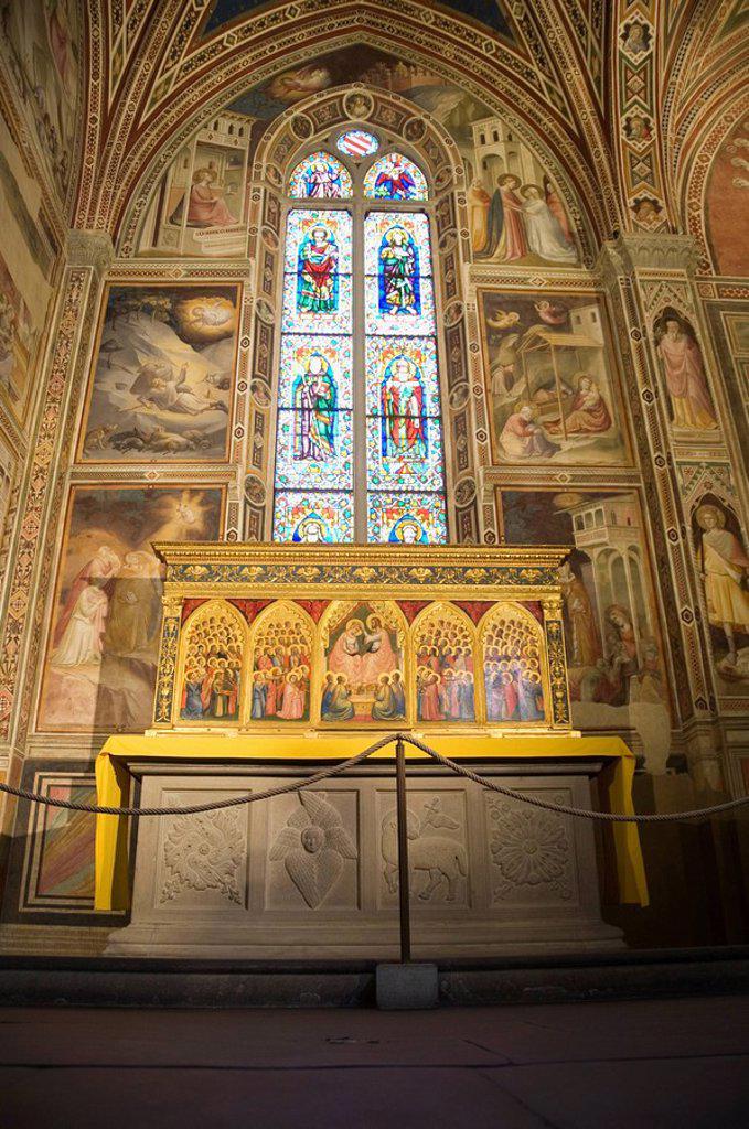 Santa Croce church, Florence Firenze, UNESCO World Heritage Site, Tuscany, Italy, Europe : Stock Photo