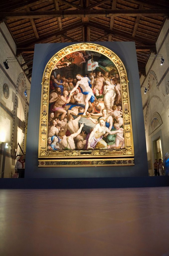 In the museum of Santa Croce church, Florence Firenze, Tuscany, Italy, Europe : Stock Photo