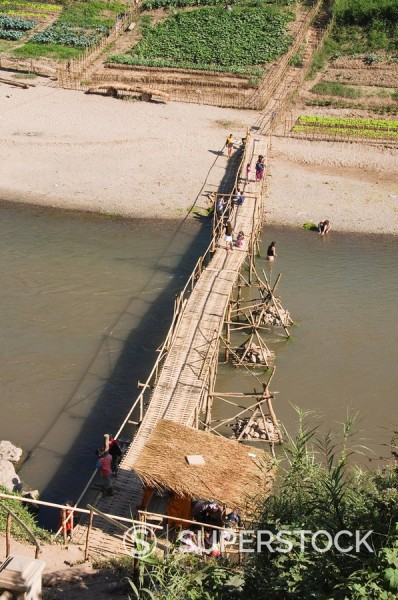 Stock Photo: 1890-36927 Khan River, Luang Prabang, Laos, Indochina, Southeast Asia, Asia