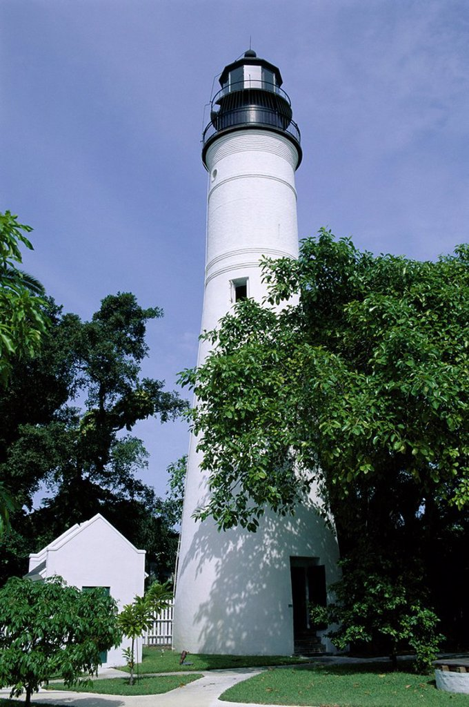 Stock Photo: 1890-36954 Lighthouse, Key West, Florida, United States of America U.S.A., North America