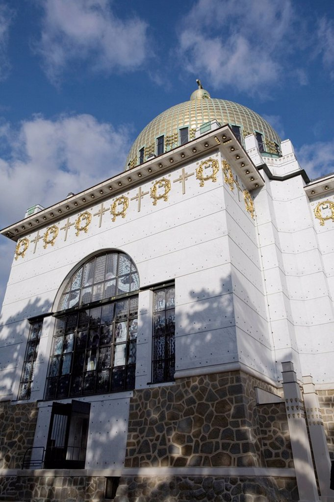 Church at Steinhof Kirche am Steinhof designed by Otto Wagner, Vienna, Austria, Europe : Stock Photo