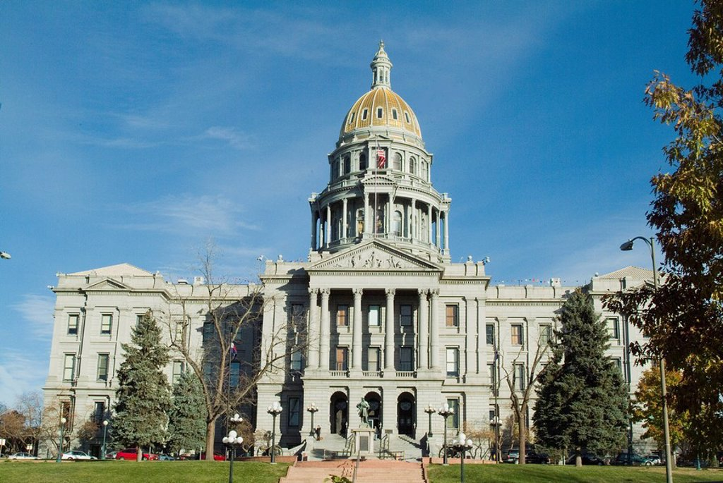 Stock Photo: 1890-40202 State Capitol, Denver, Colorado, United States of America, North America