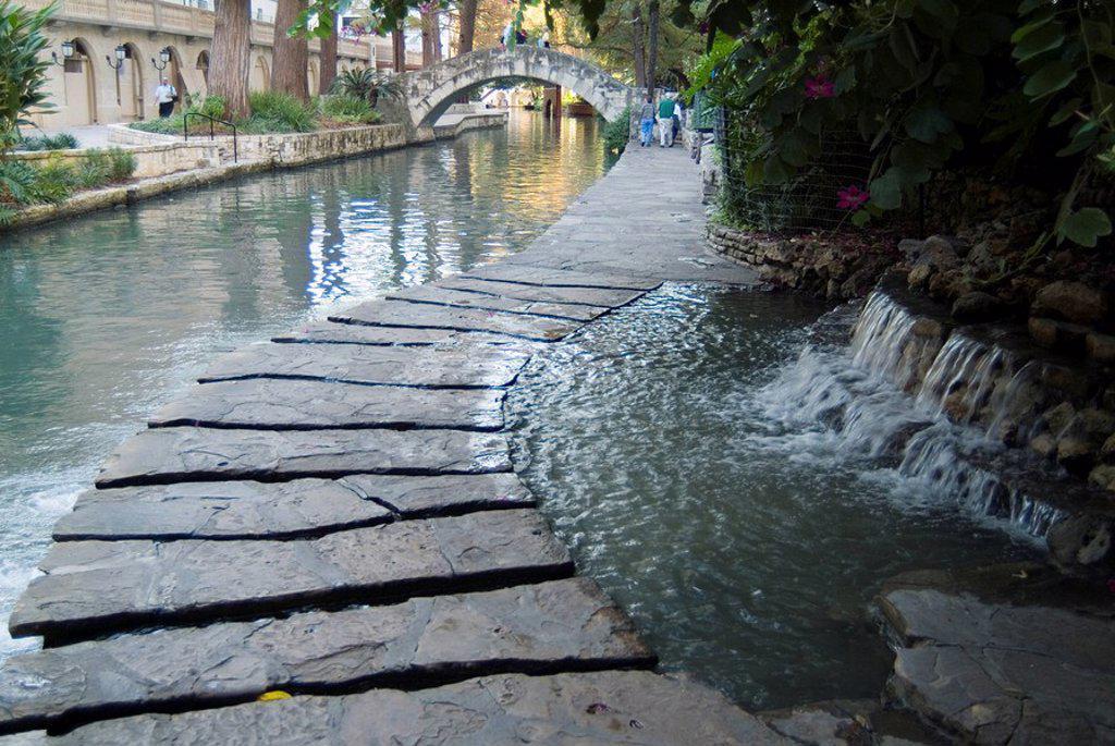 Riverwalk, San Antonio, Texas, United States of America, North America : Stock Photo