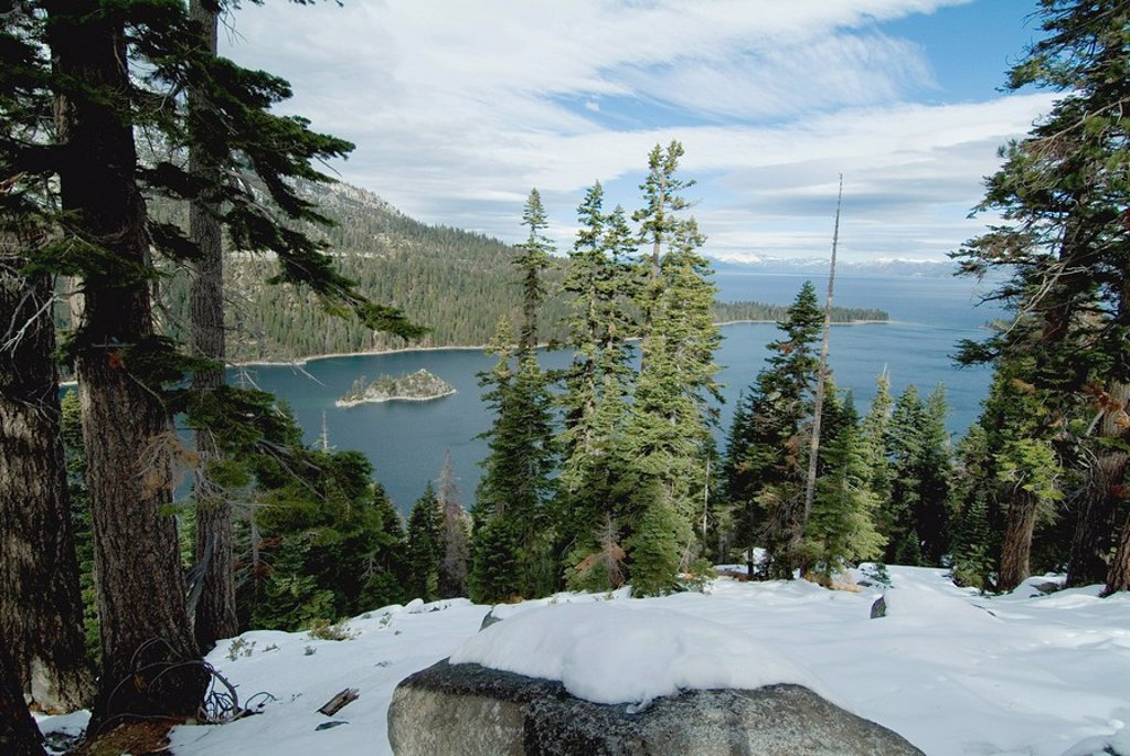 Emerald Bay, Lake Tahoe, California, United States of America, North America : Stock Photo