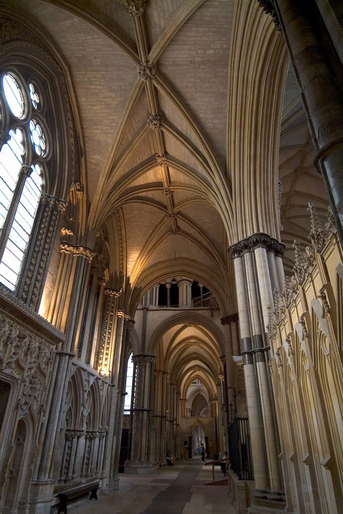Stock Photo: 1890-40711 Interior, Lincoln Cathedral, Lincoln, Lincolnshire, England, United Kingdom, Europe