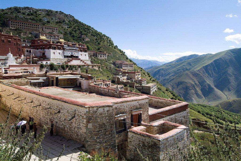 Stock Photo: 1890-40826 Ganden Monastery, near Lhasa, Tibet, China, Asia