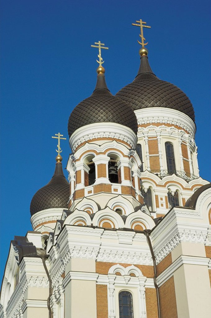 Alexander Nevsky Cathedral, Russian Orthodox church, Toompea Hill, Tallinn, Estonia, Baltic States, Europe : Stock Photo