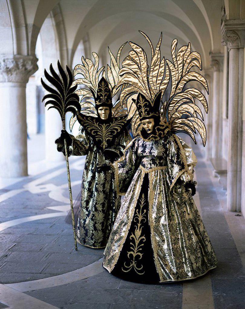 Stock Photo: 1890-41554 Carnival costumes, Venice, Veneto, Italy, Europe
