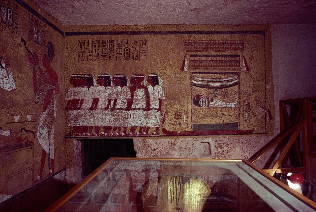 Theban tomb of Tutankhamun, Valley of the Kings, UNESCO World Heritage Site, Egypt, North Africa, Africa : Stock Photo