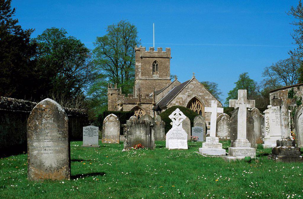 Church of St. Mary Magdalene, Loders, Dorset, England, United Kingdom, Europe : Stock Photo