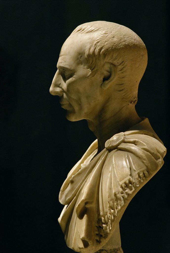 Stock Photo: 1890-41772 Bust of Julius Caesar, Vatican Museum, Rome, Lazio, Italy, Europe