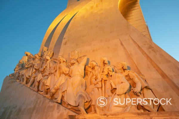 Stock Photo: 1890-42596 Monument to the Discoveries, Belem, Lisbon, Portugal, Europe