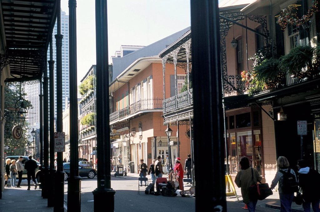 Stock Photo: 1890-43390 The French Quarter, New Orleans, Louisiana, United States of America, North America