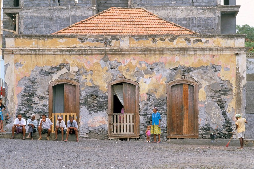 Stock Photo: 1890-43406 Town of Sao Felipe, island of Fogo, Cape Verde Islands, Africa