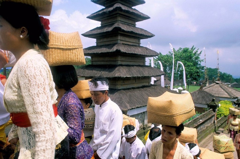 Stock Photo: 1890-44196 Batara Turum Kabeh ceremony, Hindu temple of Besakih, island of Bali, Indonesia, Southeast Asia, Asia